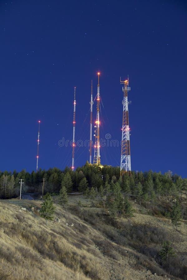 noc radio góruje zdjęcie stock