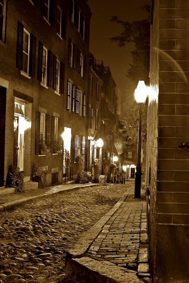noc razem sepiowy boston obrazy royalty free
