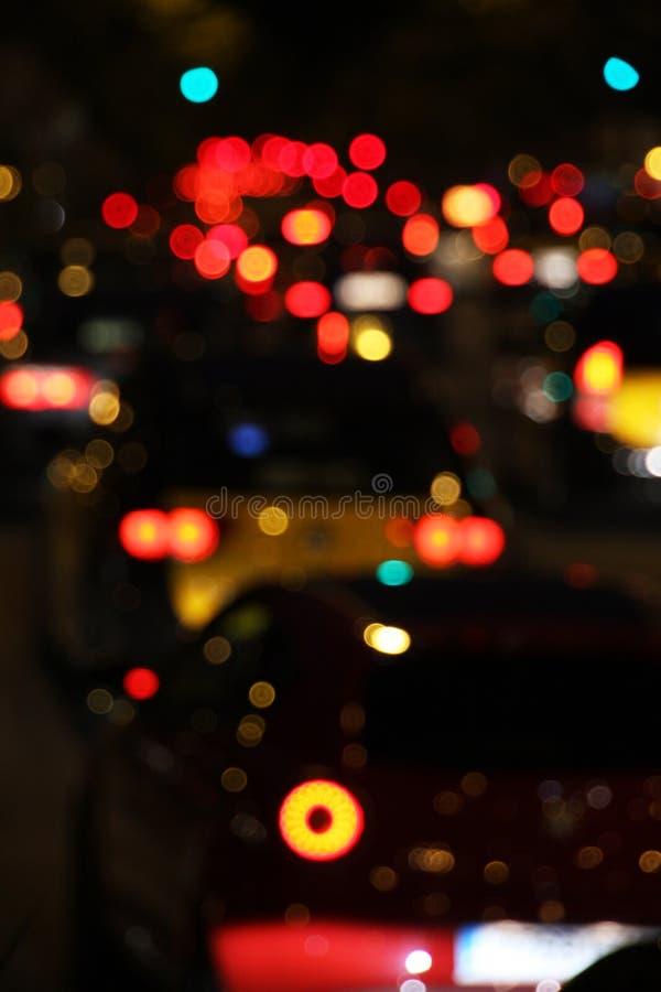 Noc ruch drogowy obrazy royalty free