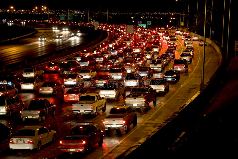 noc ruchu zdjęcie stock