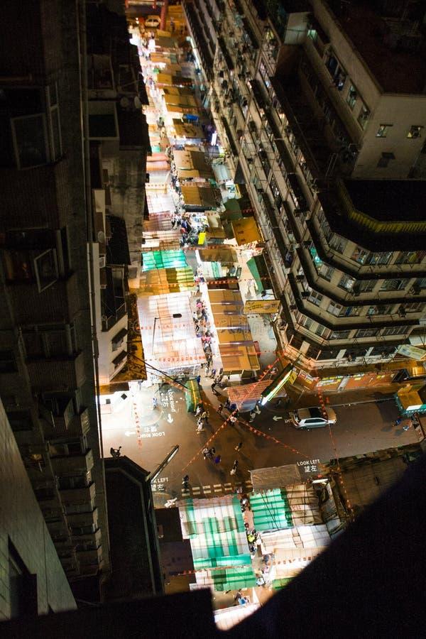 Noc rynek, Świątynna ulica, Hong Kong zdjęcia royalty free