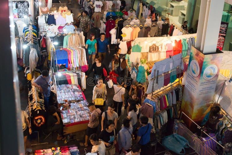 Noc rynek przy Siam kwadrata centrum handlowym obrazy stock