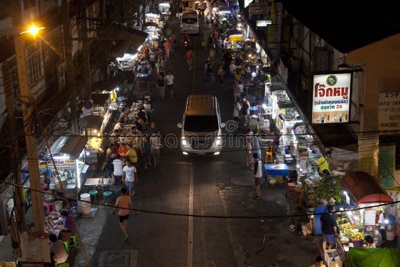 Noc rynek w Bangkok zdjęcia royalty free