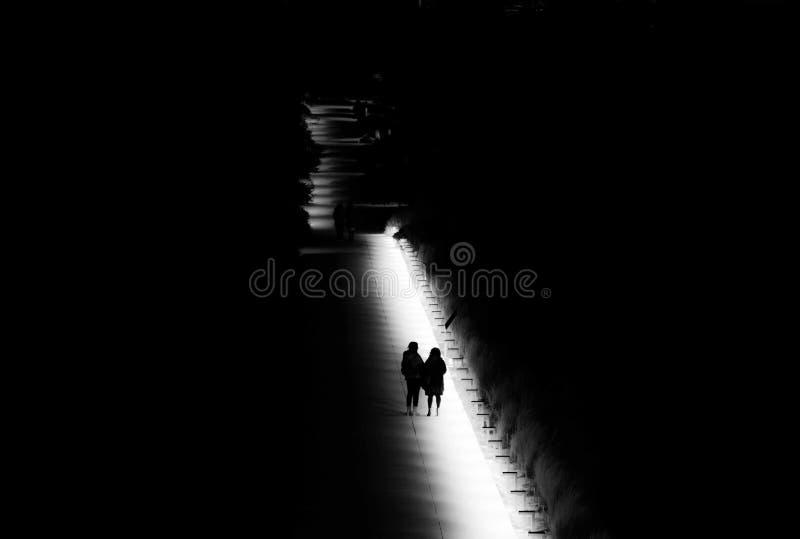 Noc spacer w parku obrazy stock