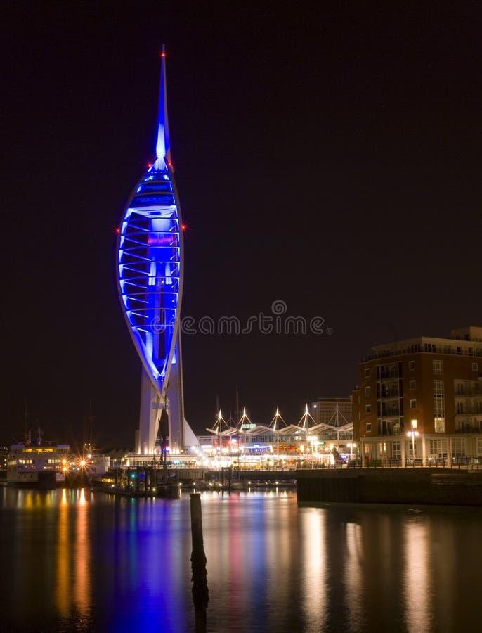 noc spinnaker wieży zdjęcie royalty free