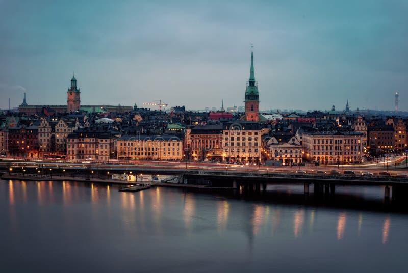 noc Stockholm zdjęcie royalty free