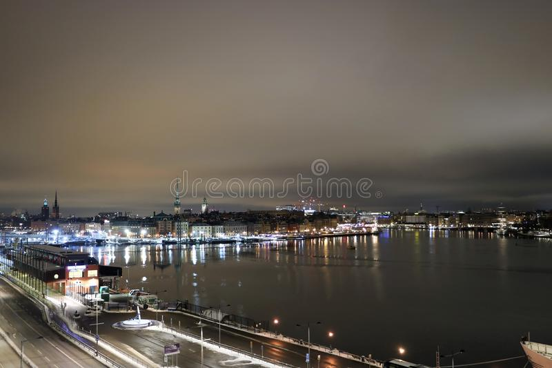 noc Stockholm obraz royalty free