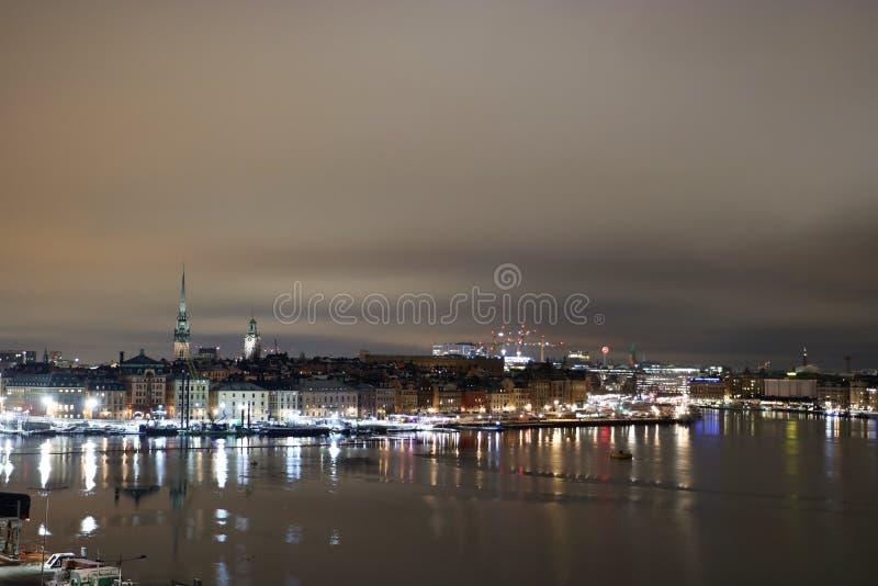 noc Stockholm zdjęcia stock