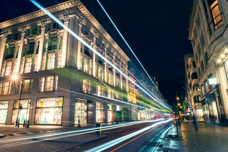 Noc strzelająca w Londyn fotografia royalty free