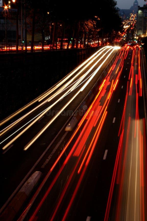 noc szybki ruch drogowy obraz royalty free