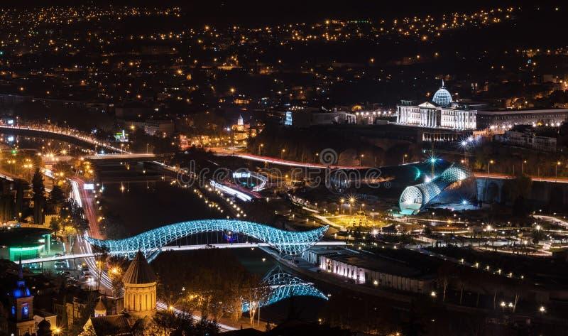 Noc Tbilisi zdjęcie royalty free