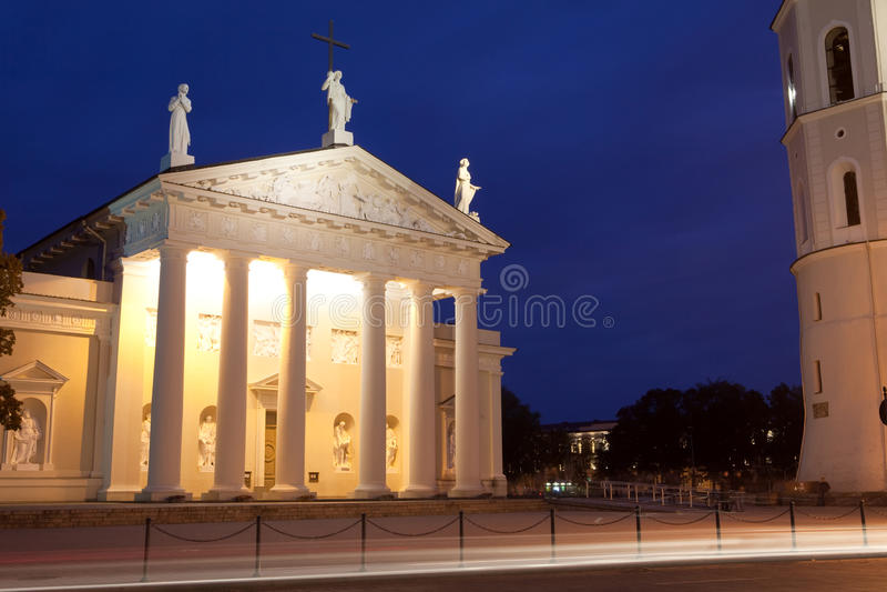noc Vilnius zdjęcie royalty free