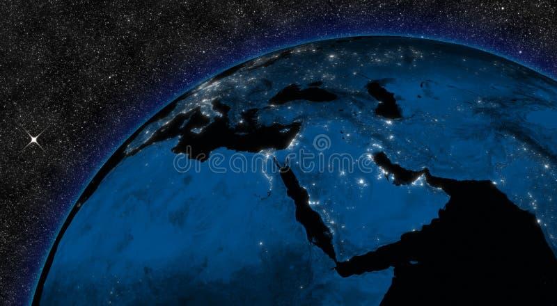 Noc w Środkowy Wschód ilustracja wektor