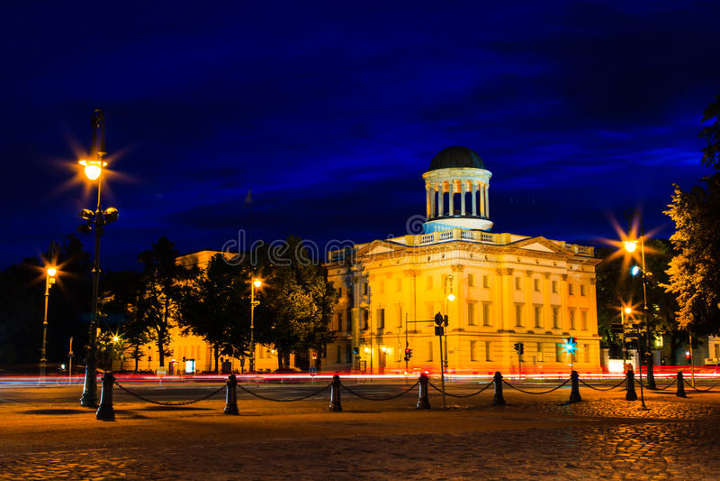 Noc w Berlin obraz royalty free