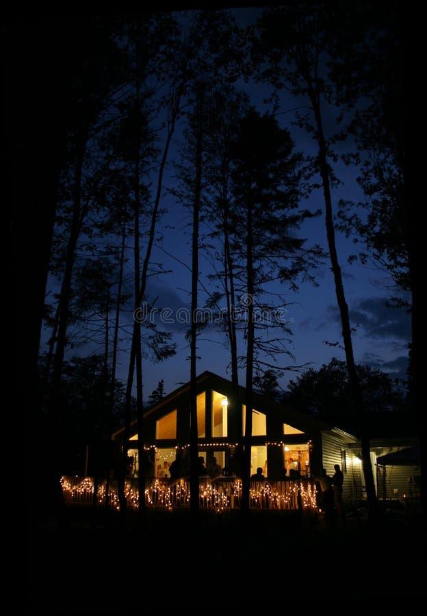 noc w domu obraz stock