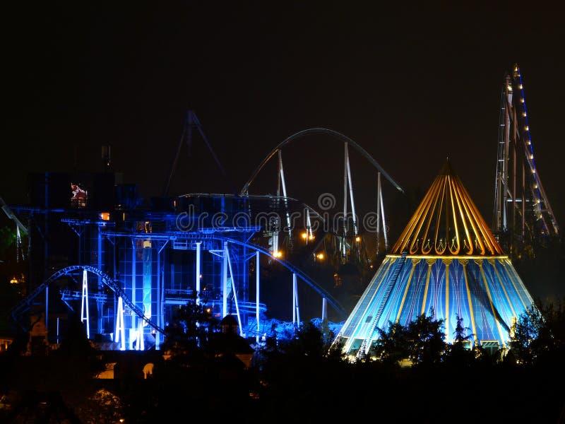 Noc w parku obraz stock