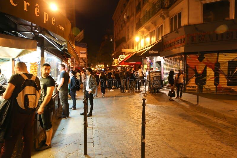 Noc w Paryż zdjęcie stock