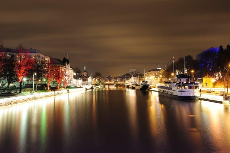 Noc w Turku obrazy stock