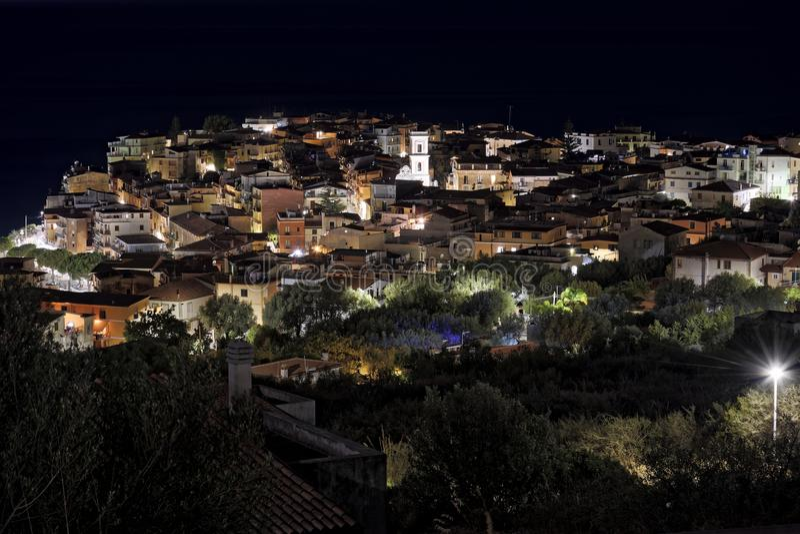 Noc widok camerota marina zdjęcie royalty free