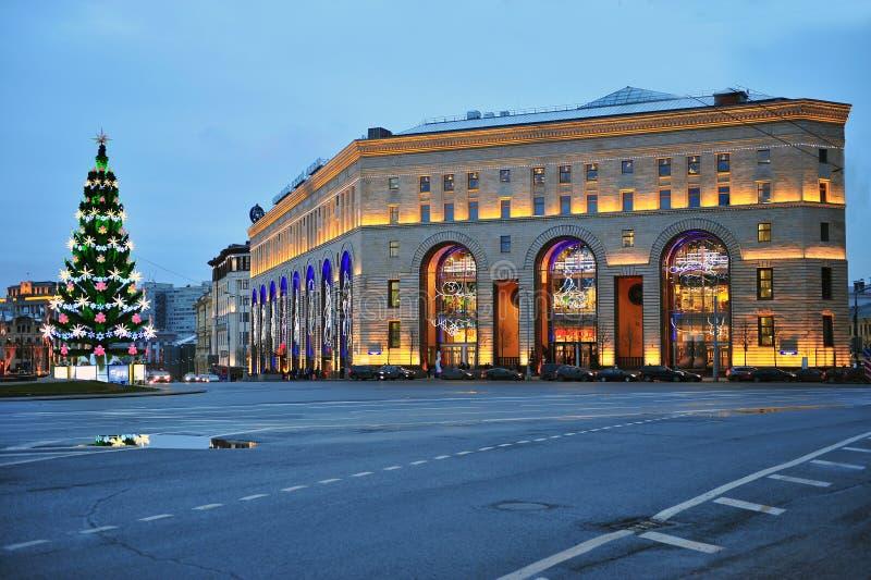 Noc widok centrala dzieciaków sklep w Moskwa fotografia stock