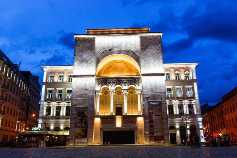 Noc widok centrum miasta w Timisoara na Lipu 22, 2014 obrazy stock