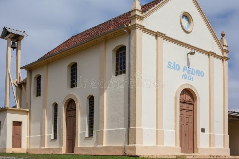 Noc widok kościół Cristo Reja, Bento Goncalves, RS - zdjęcie royalty free