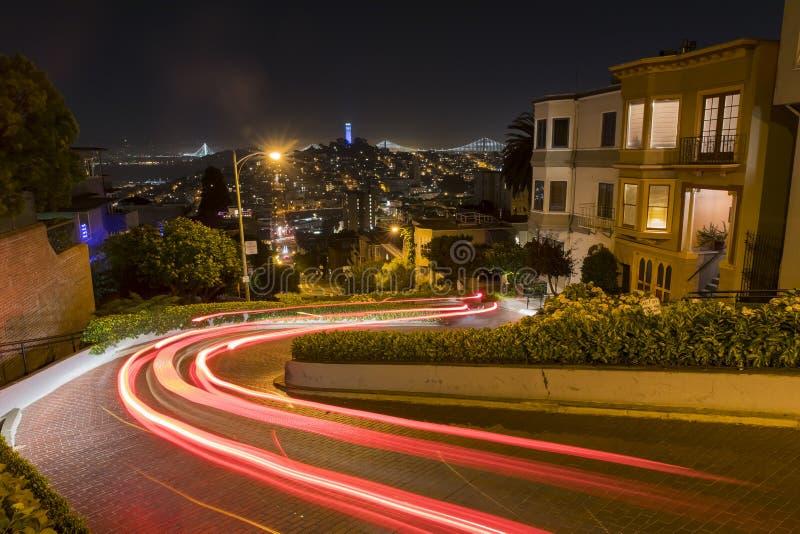 Noc widok lombard ulica obrazy royalty free