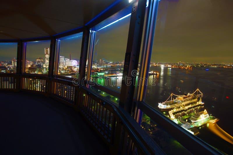 Noc widok od Morski wierza obraz stock