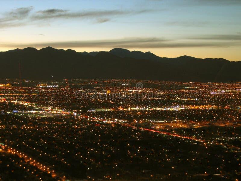 Noc widok od stratosfery wierza, Las Vegas, Nevada, usa zdjęcie royalty free