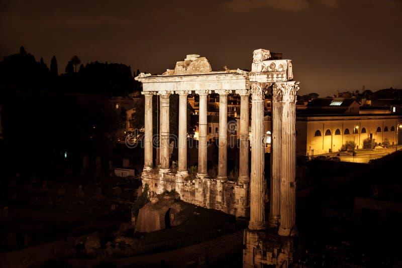 Noc widok Romański forum obraz stock