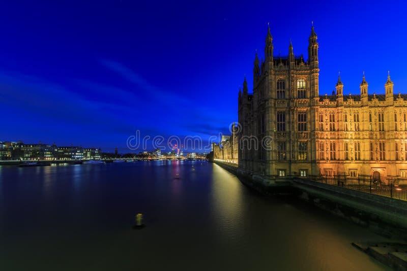 Noc widok sławny Big Ben, Londyn, Zjednoczone Królestwo fotografia stock