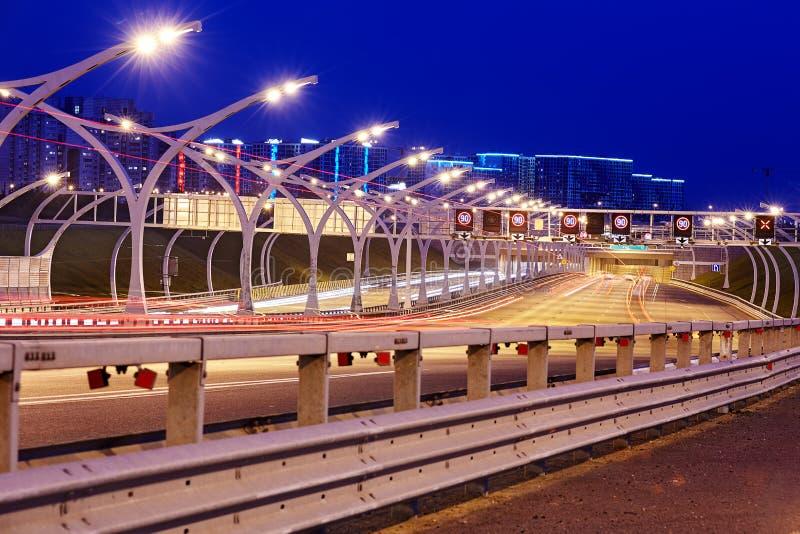 Noc widok zachodnia szybkościowa średnica zdjęcia stock
