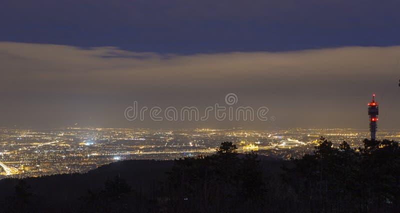 noc z budapesztu zdjęcie stock