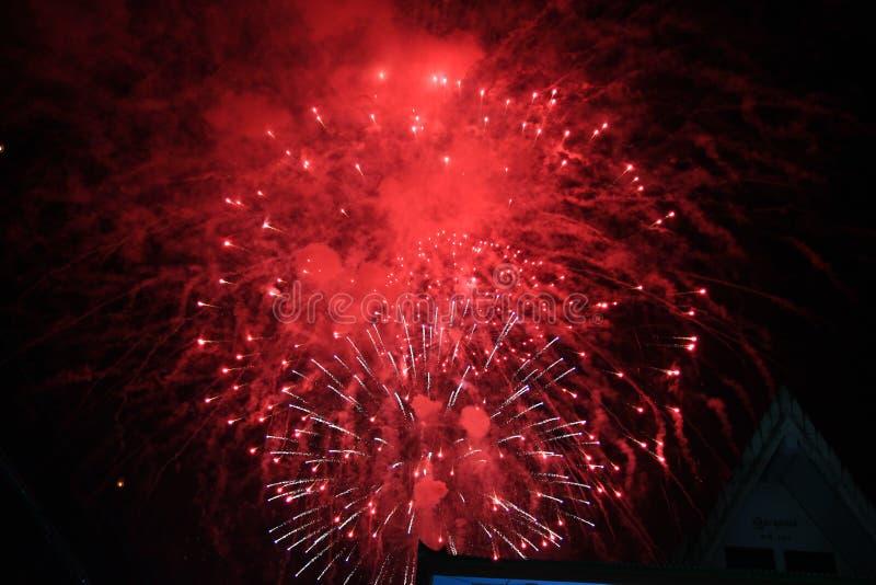 Noc zaświeca festiwal w Tajlandia zdjęcia stock