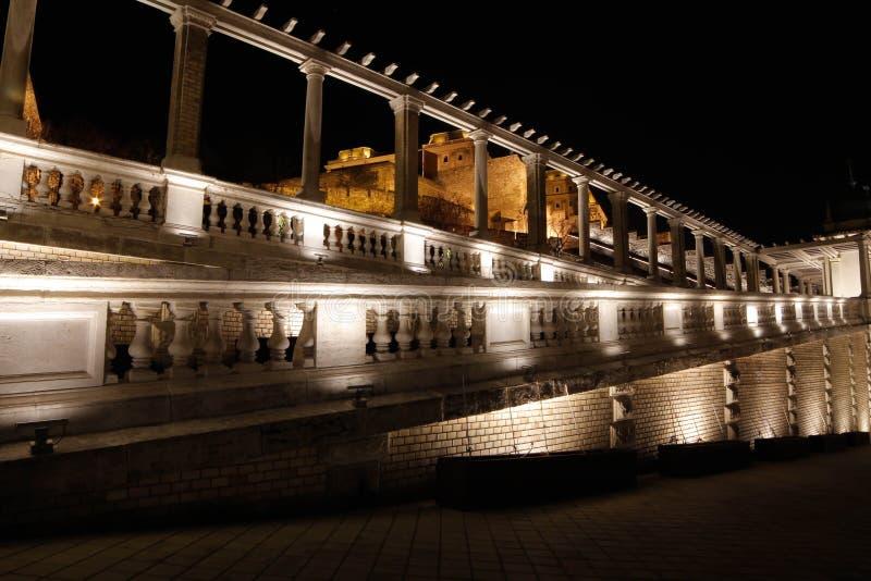 Noc zwiedza - Buda kasztel fotografia royalty free