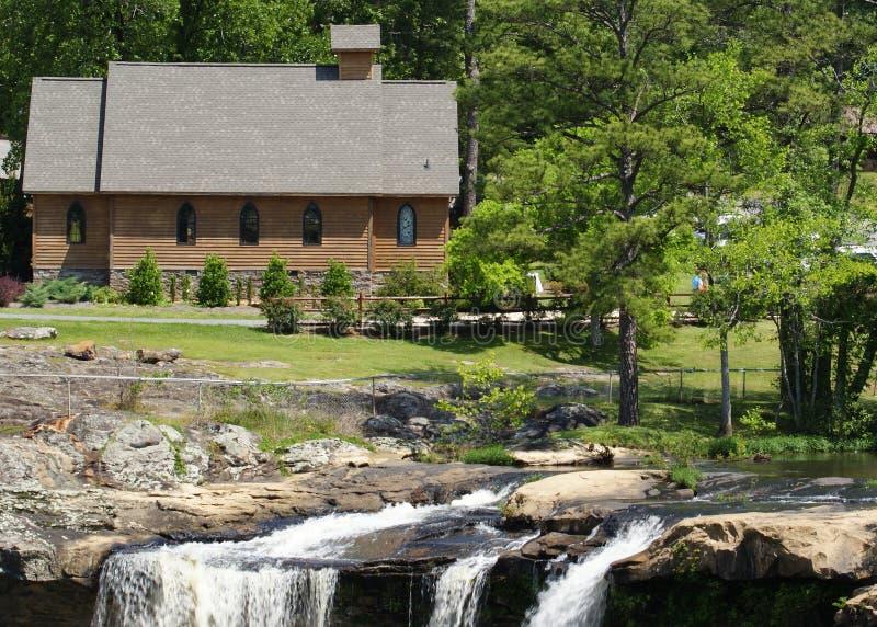 Noccalula Falls Church royaltyfria bilder