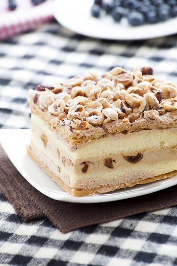 Nocciola Napoleon Cake fotografia stock