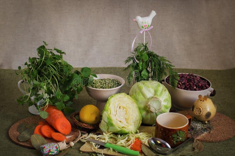 Noch Leben des Gemüses lizenzfreies stockbild