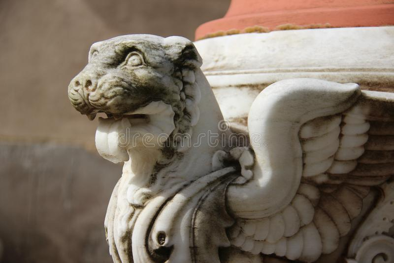 Noch Leben 1 Lion With Wings Topical Local-Kunst stockbilder