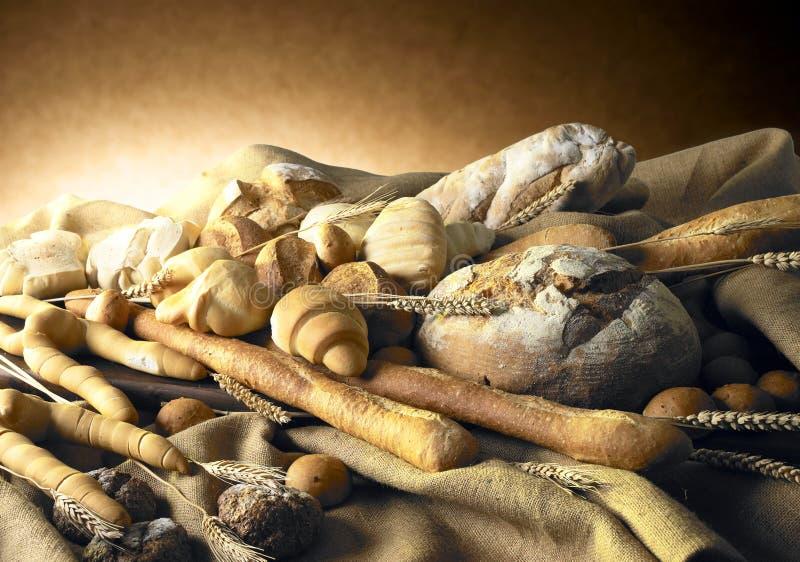 Noch Leben mit Brot lizenzfreies stockfoto