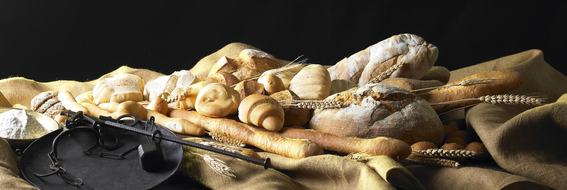 Noch Leben mit Brot lizenzfreie stockfotografie