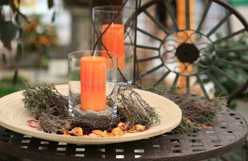 Noch Leben mit Kerzen stockbilder