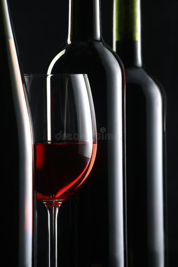 Noch Leben mit Rotwein stockfoto