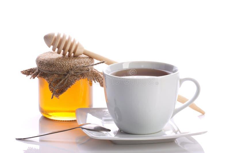 Noch lebens- Tee mit Honig lizenzfreie stockfotos