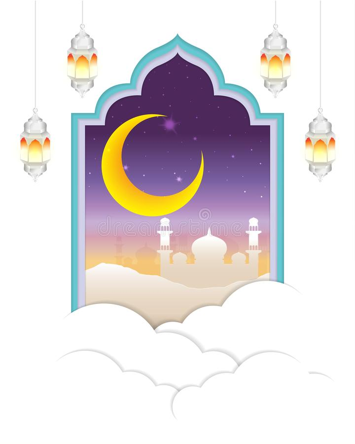 Noche árabe con la nube libre illustration