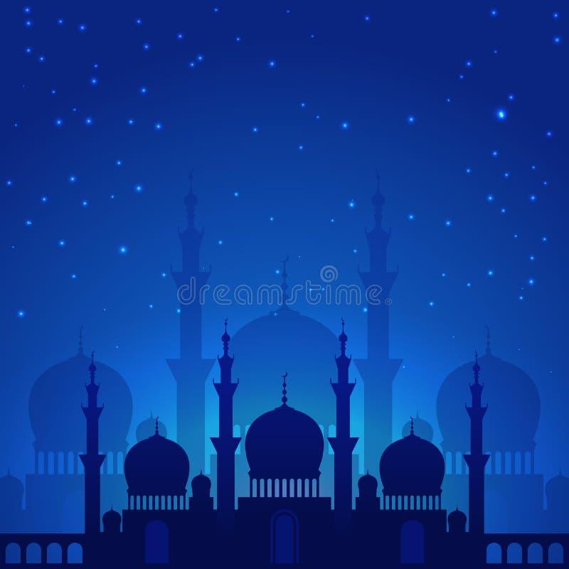 Noche árabe mágica stock de ilustración