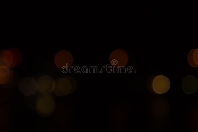 Noche abstracta del bokeh en ciudad imagen de archivo