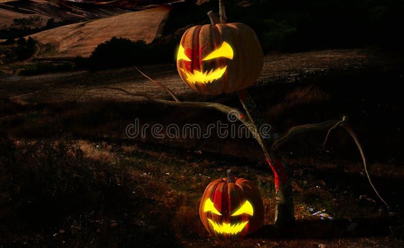 Noche asustadiza de Halloween libre illustration