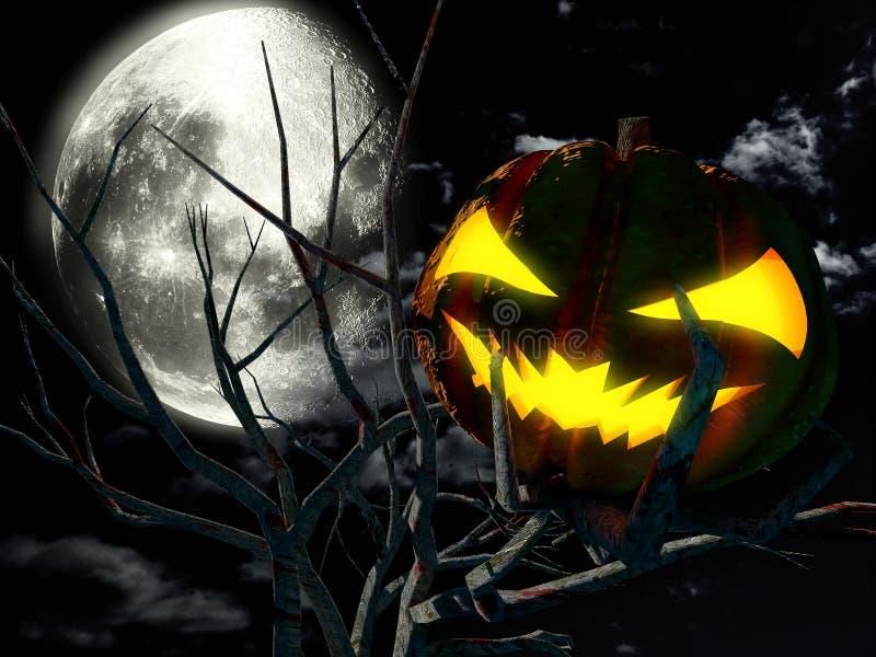 Noche asustadiza de Halloween imagen de archivo