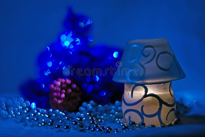 Noche azul marino imagen de archivo
